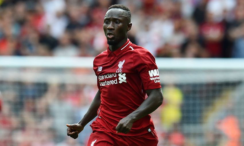Naby Keita in action for Liverpool