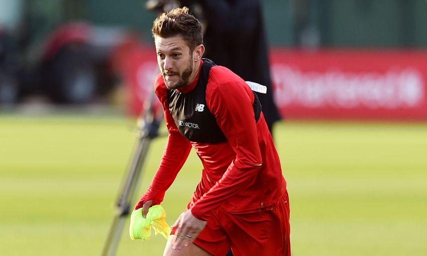 Adam Lallana in training
