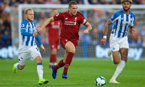 Jordan Henderson against Huddersfield Town