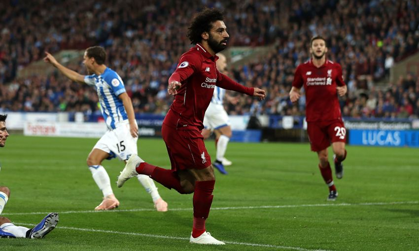 Mohamed Salah against Huddersfield Town