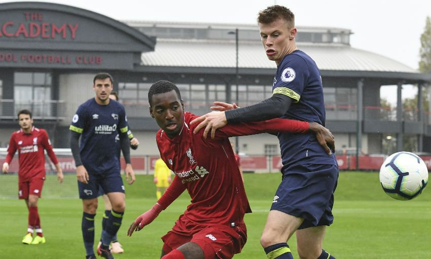 Liverpool U23s v Derby County at the Academy, October 2018