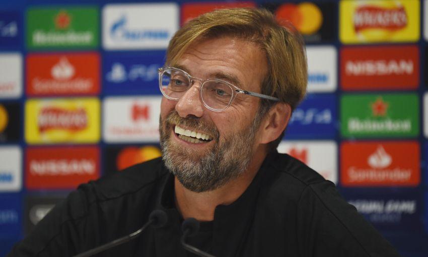 Jürgen Klopp at a Champions League press conference