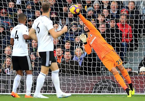 Fulham goalkeeper Sergio Rico