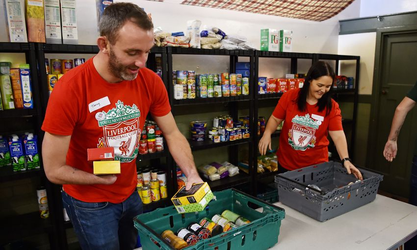 Support Anfield Foodbank Collection At Norwich Match