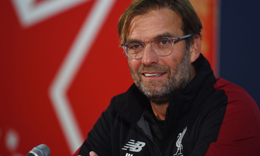 Jürgen Klopp during a press conference in Belgrade