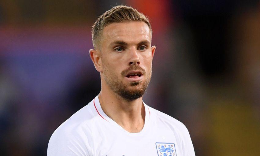 Jordan Henderson in action for England