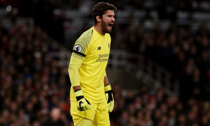 Liverpool goalkeeper Alisson Becker