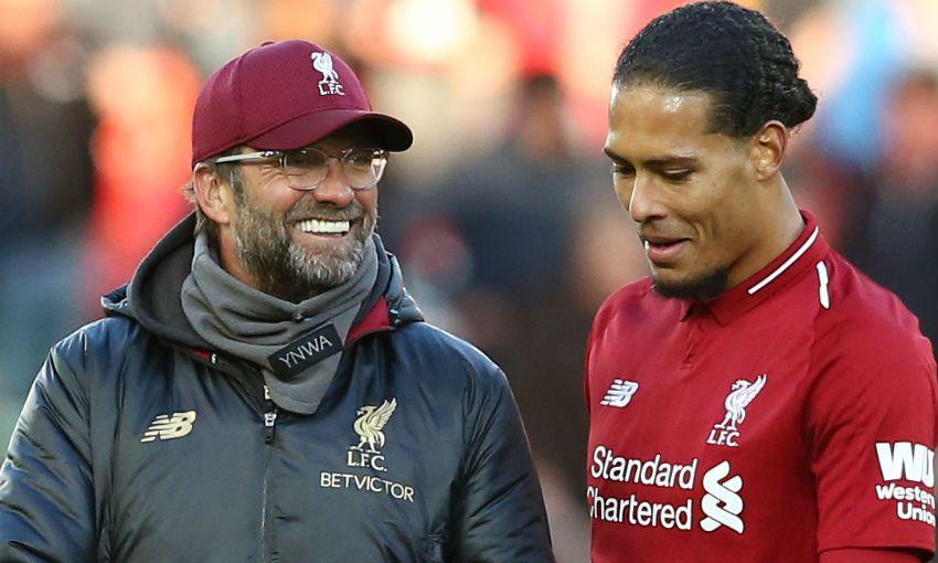 Liverpool FC's Jürgen Klopp and Virgil van Dijk
