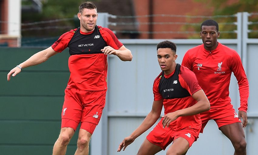 James Milner in training