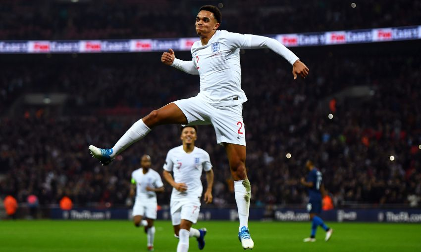Trent Alexander-Arnold scores for England
