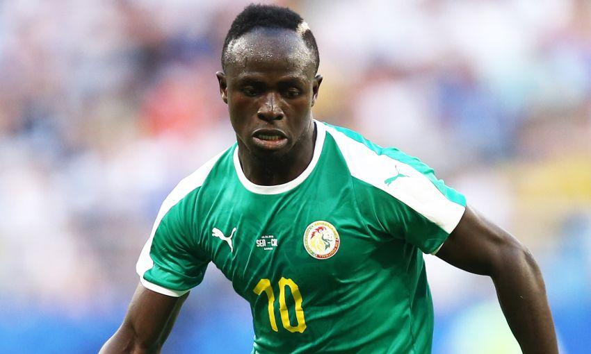 Sadio Mane in action for Senegal