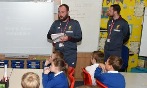 LFC Foundation coaches at Premier League Writing Stars event
