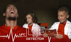 Virgil van Dijk takes the LFC Kop Kids Lie Detector test