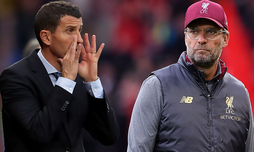 Watford manager Javi Gracia and Liverpool boss Jürgen Klopp