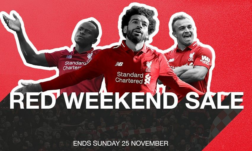 Liverpool FC Retail's Red Weekend sale