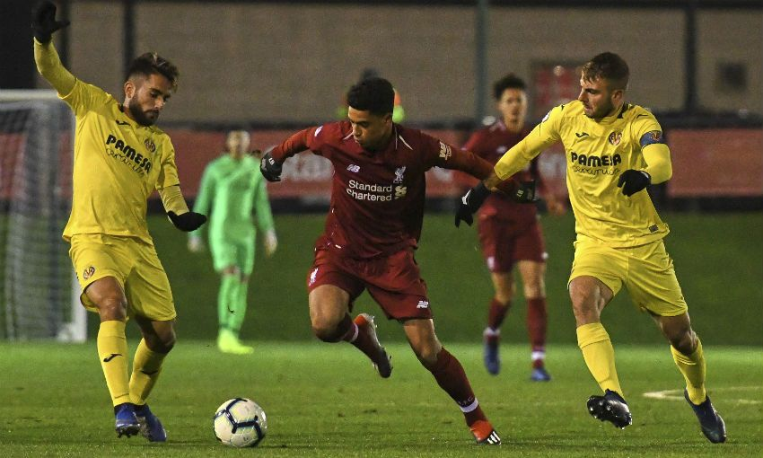 Liverpool U23s v Villarreal, Premier League International Cup