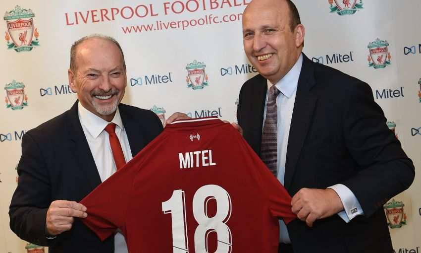 Liverpool FC and Mitel partnership