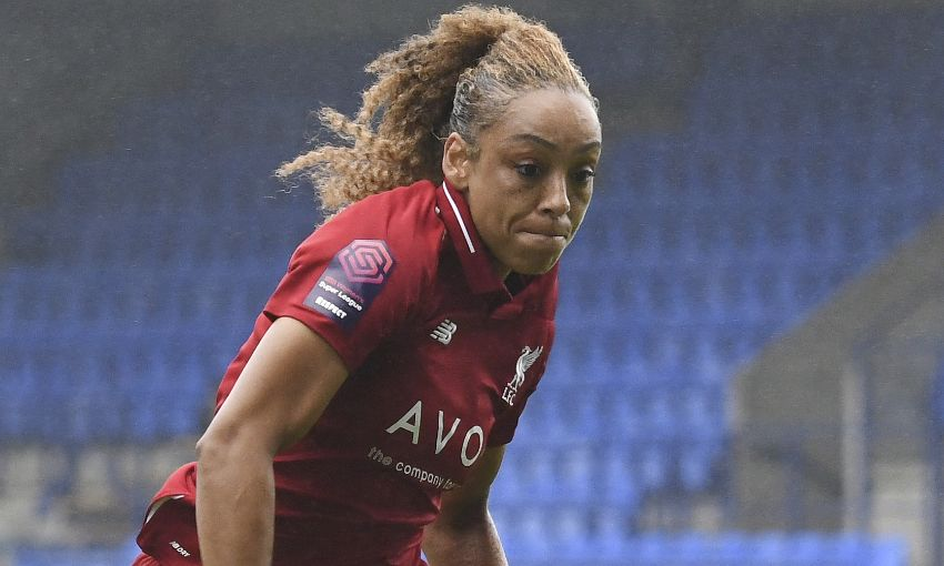 Jessica Clarke in action for Liverpool FC Women