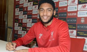 Joe Gomez of Liverpool FC signs a new contract