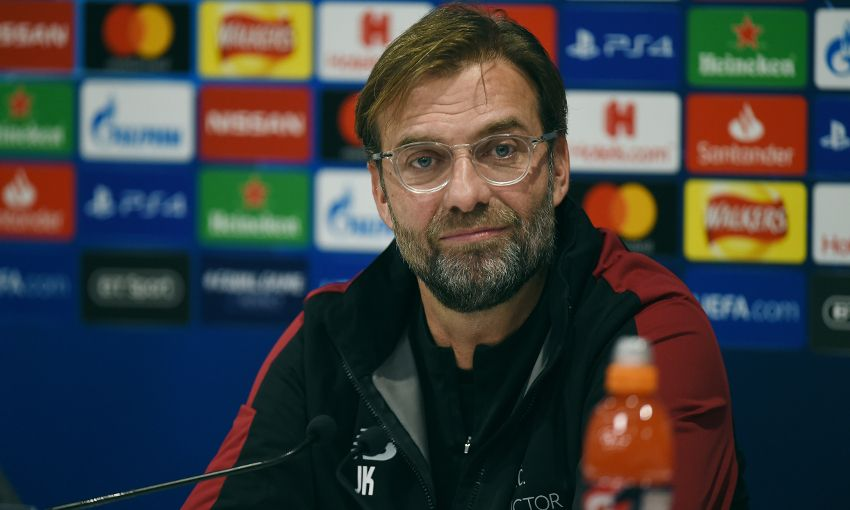 Jürgen Klopp speaks to the media ahead of Liverpool's Champions League clash with Napoli at Anfield.