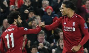 Virgil van Dijk and Mohamed Salah of Liverpool FC