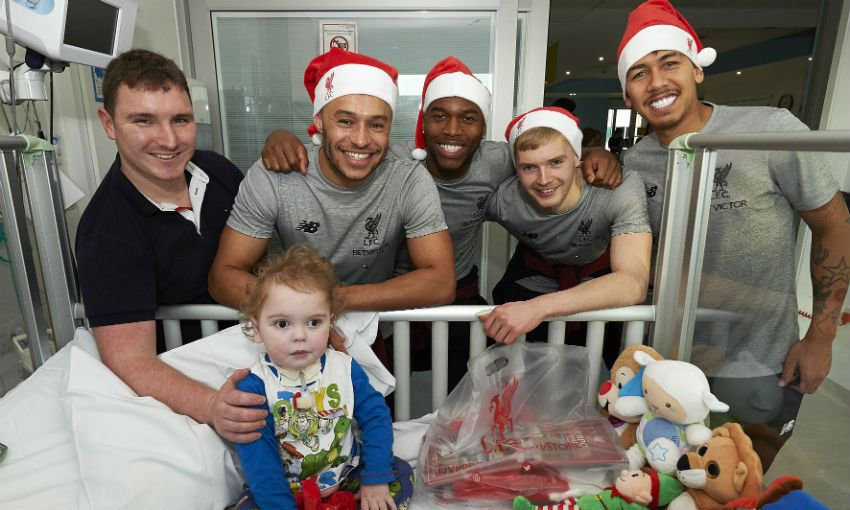 Liverpool FC visit Alder Hey Children's Hospital, Christmas 2018
