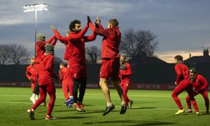 Liverpool training, December 14