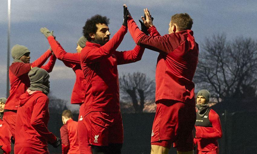 Liverpool training, December 14