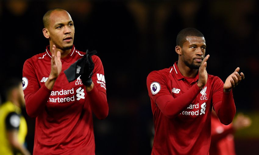 Fabinho and Georginio Wijnaldum