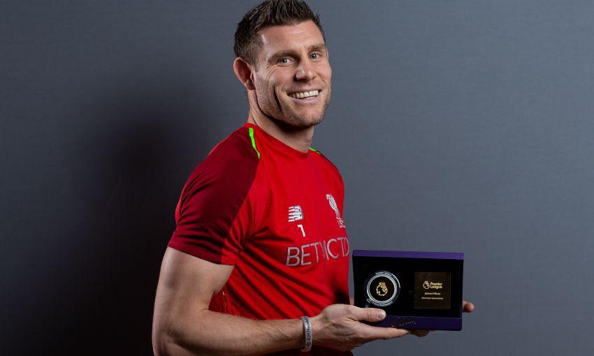 James Milner receives Premier League award