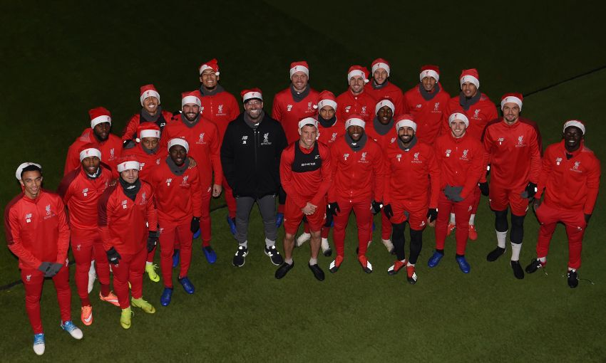 012d14266ff Liverpool squad get into Christmas spirit at Melwood - Liverpool FC