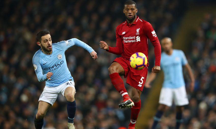 Georginio Wijnaldum against Manchester City