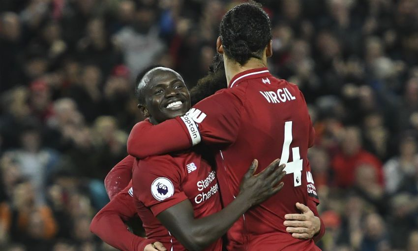 Sadio Mane and Virgil van Dijk of Liverpool FC