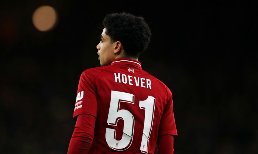 Ki-Jana Hoever of Liverpool FC
