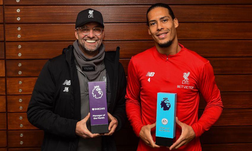 Jürgen Klopp and Virgil van Dijk win Premier League awards