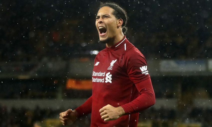 Virgil van Dijk celebrates