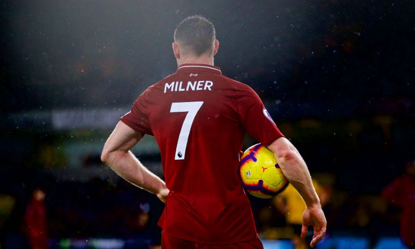James Milner of Liverpool FC