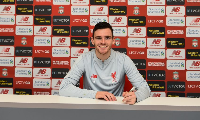 Andy Robertson signs new Liverpool contract
