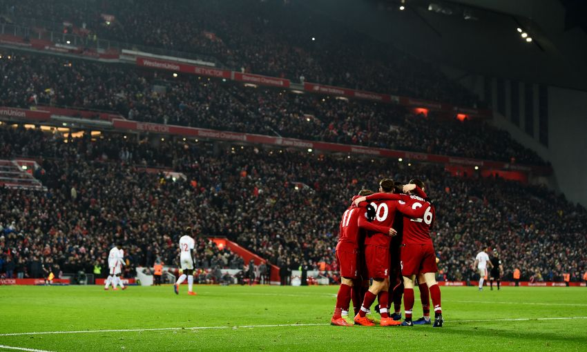 Liverpool celebrate against Crystal Palace