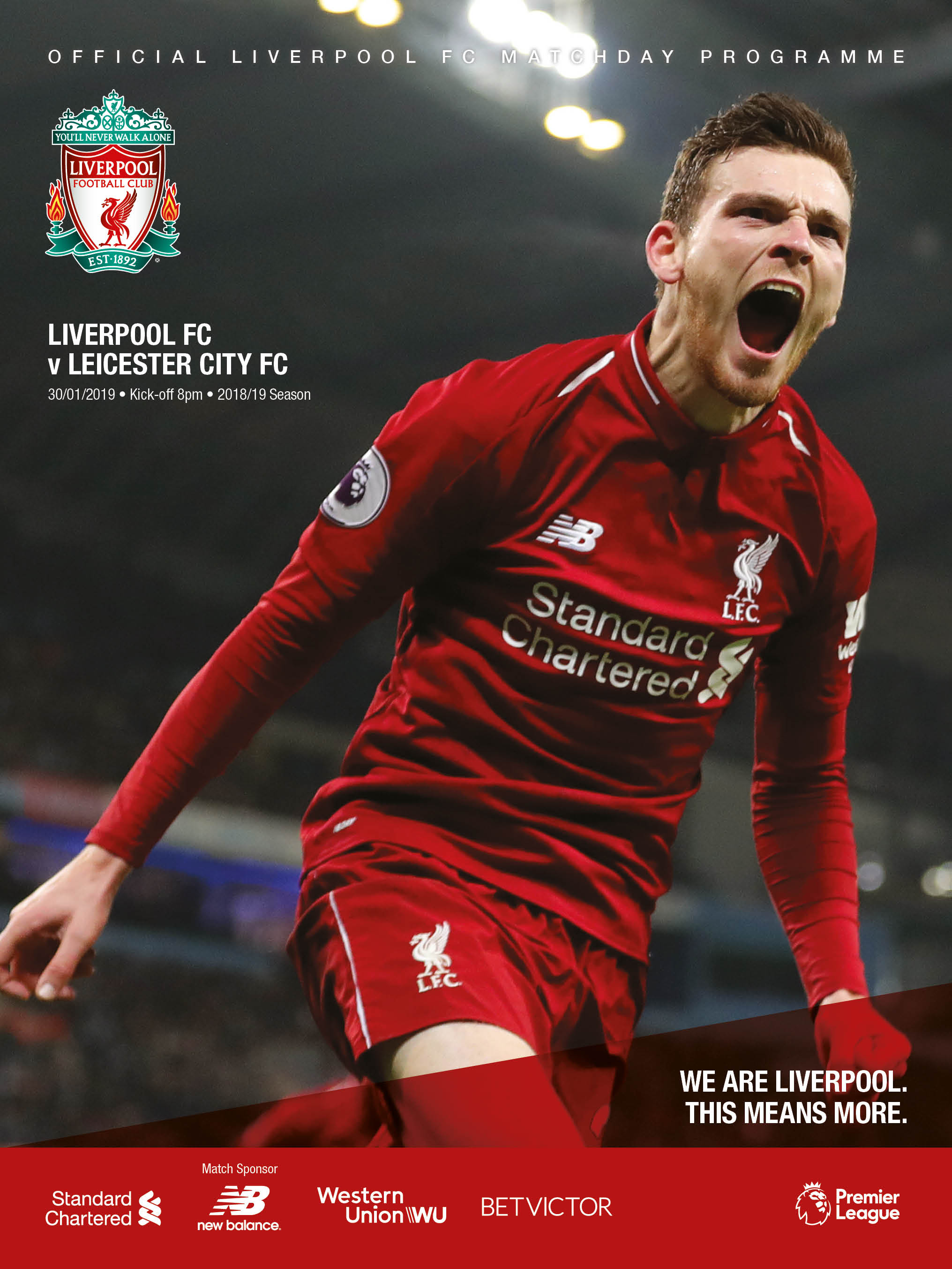 1a9b9bb78 Andy Robertson is the star of the matchday programme cover for this game -  pick up your copy at Anfield or subscribe online by clicking here.