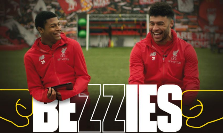 Alex Oxlade-Chamberlain and Rhian Brewster in Bezzies