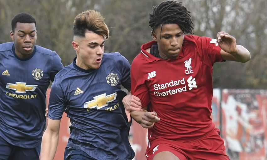 1f8e98cea Match report  Ten-man U18s beaten by United in PL Cup - Liverpool FC