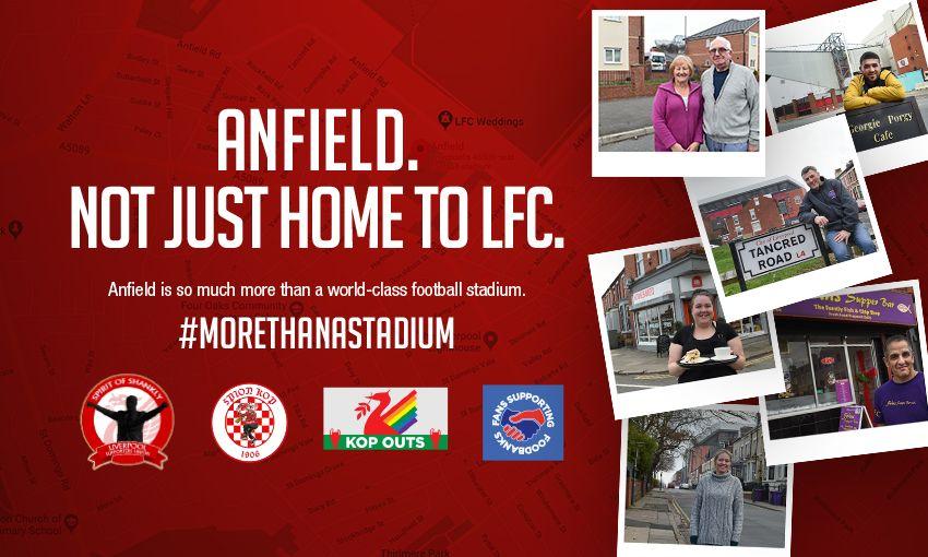 Liverpool FC supports #morethanastadium campaign