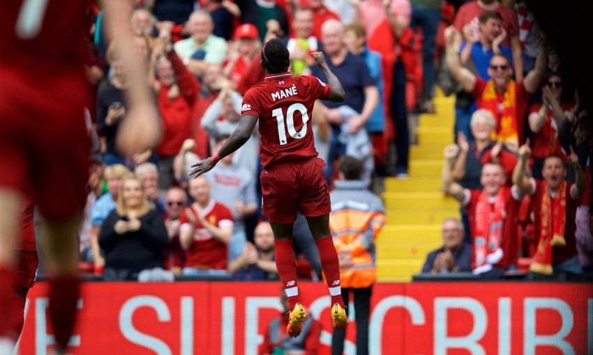 Liverpool's Sadio Mane celebrates