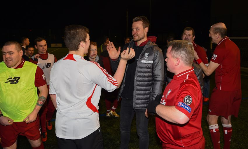LFC Foundation Simon Mignolet visits respect 4 all disability session