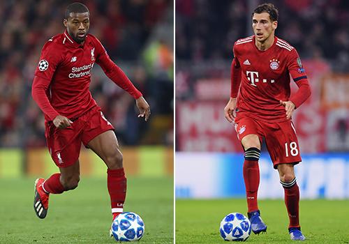 Liverpool's Georginio Wijnaldum and Bayern Munich's Leon Goretzka