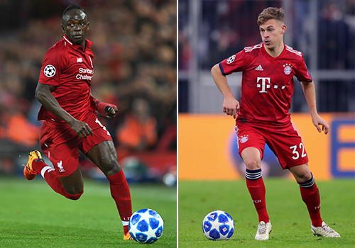 Liverpool's Sadio Mane and Bayern Munich's Joshua Kimmich