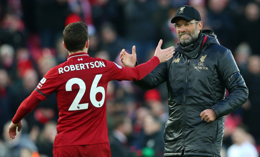 Liverpool's Andrew Robertson: 'Klopp doesn't just grin when we're winning'