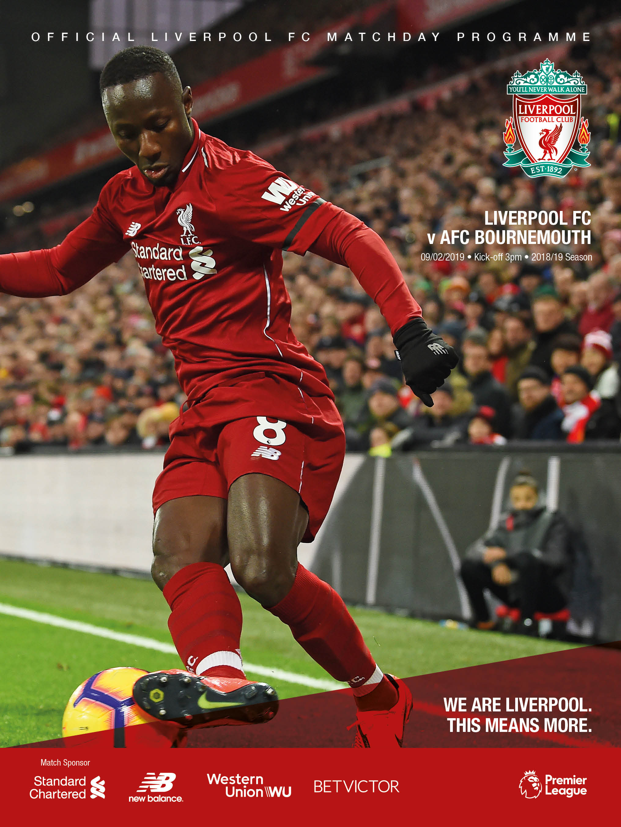 6362a0580 Our No.8 adorns the matchday programme this afternoon - grab your copy at  Anfield or subscribe online by clicking here.