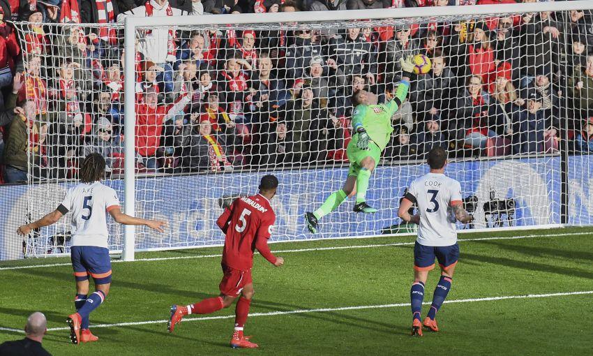 Georginio Wijnaldum scores against Bournemouth